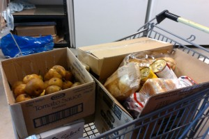 Food donated to the Launceston Benevolent Society for distribution